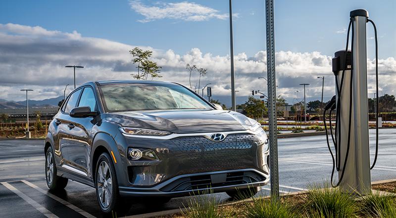 Hyundai Kona Electric 2020 cargador