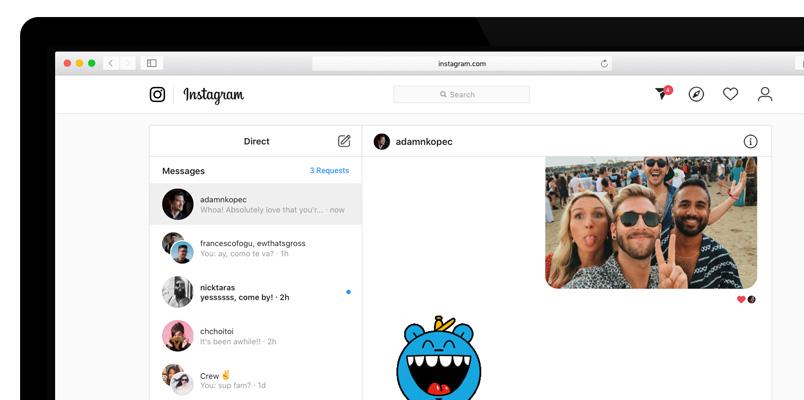 En Instagram ya puedes enviar mensajes directos desde tu PC