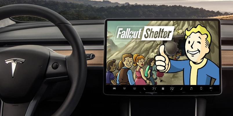 Fallout Shelter ya se puede jugar en los vehículos de Tesla