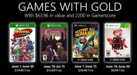 Los cuatro juegos que tendrá Games with Gold en junio 2020