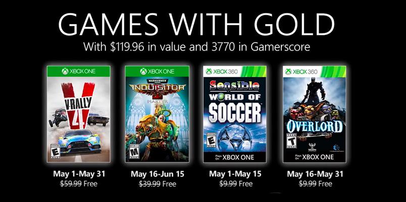 Estos son los Games with Gold que se lanzan para mayo 2020
