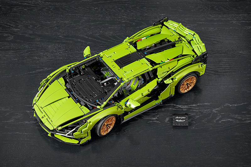 Lamborghini Sián FKP 37 de LEGO Technic arriba