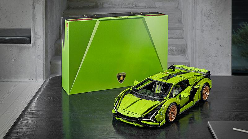 Lamborghini Sián FKP 37 de LEGO Technic caja