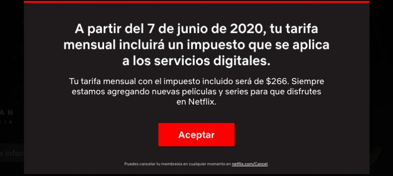 Netflix IVA Mexico