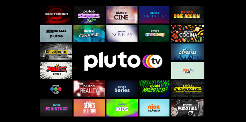 Pluto TV Canales