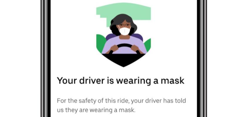 Uber presenta la tecnología de verificación de uso de cubrebocas