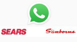 Sanborns y Sears utilizan WhatsApp para que hagas tus compras en línea