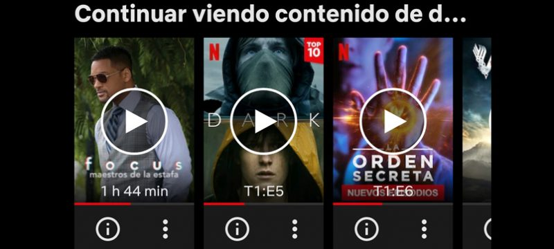 Continuar viendo Netflix Quitar