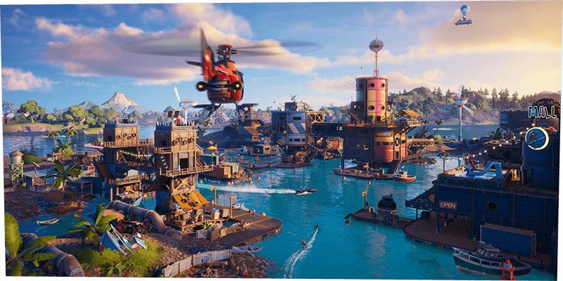 Fortnite Capitulo 3 de la Temporada 2 isla