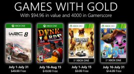 Los Games with Gold que estarán llegando durante julio 2020