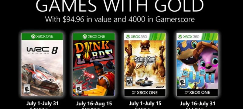 Games with Gold julio 2020
