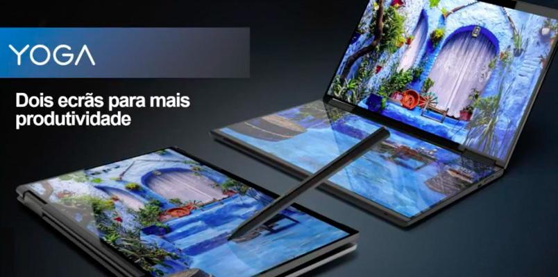 Lenovo muestra su próxima laptop Yoga con pantalla plegable