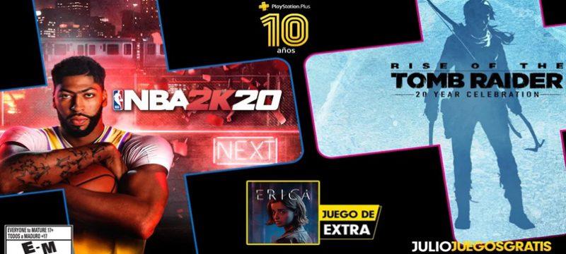PlayStation Plus julio 2020 NBA 2K20