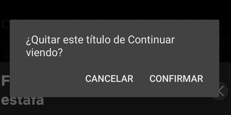 Quitar Continuar viendo Netflix