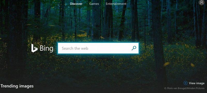 Xbox One Bing