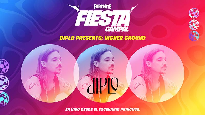 El nuevo concierto de Fortnite: Diplo Presents: Higher Ground
