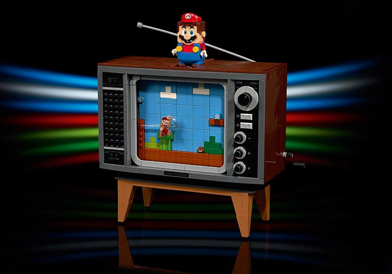 LEGO Nintendo Entertainment System televisor LEGO Mario