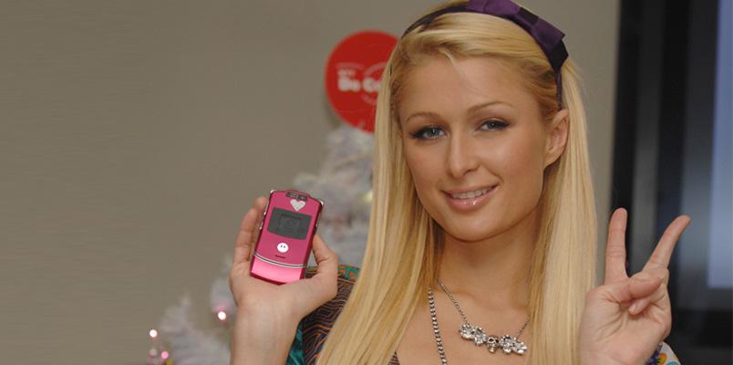 Motorola RAZR V3 Paris Hilton