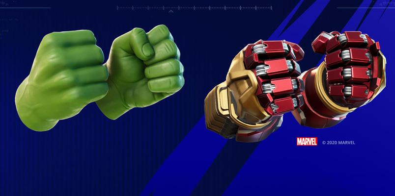Punos Hulk Hulkbuster Fortnite