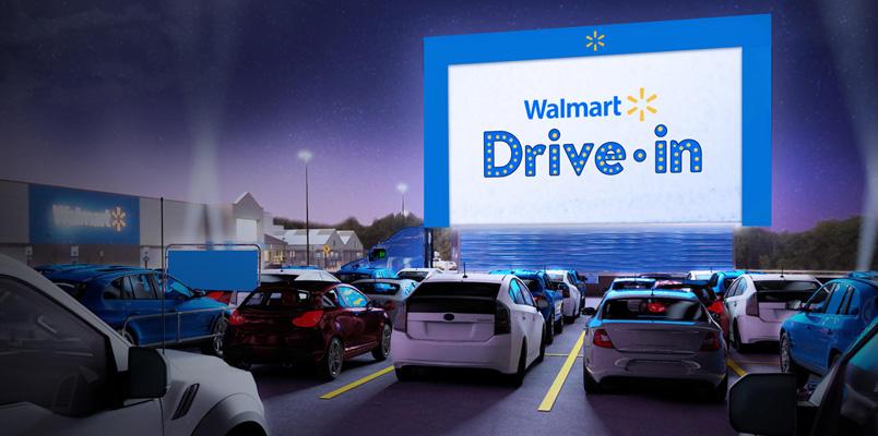 Walmart transformará sus estacionamientos en autocinemas