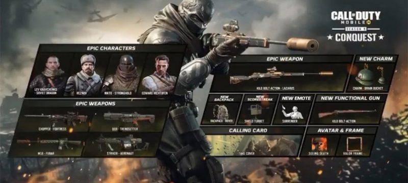 CoD Mobile Season 9 Conquest Battle Pass