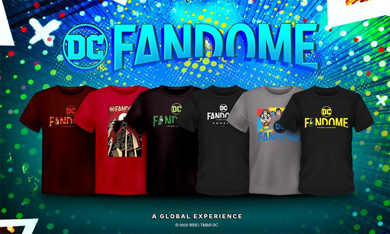 Encuentra los productos oficiales de la DC FanDome: Salón de Superhéroes
