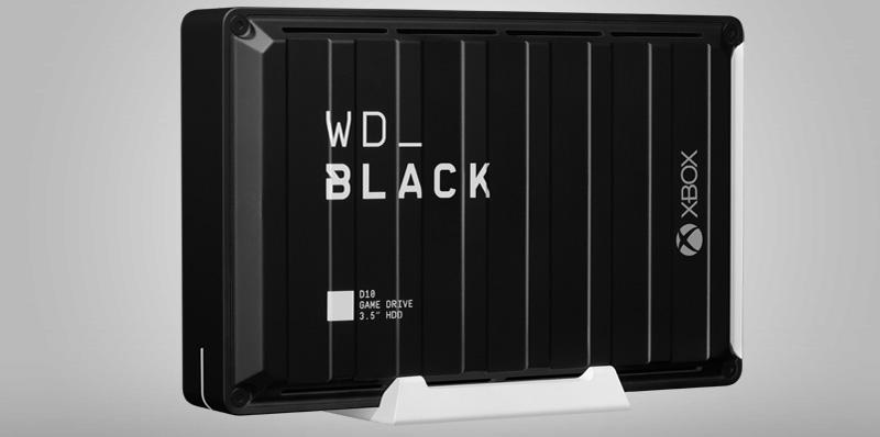 WD_BLACK D10 brinda hasta 12TB de espacio a tu Xbox One