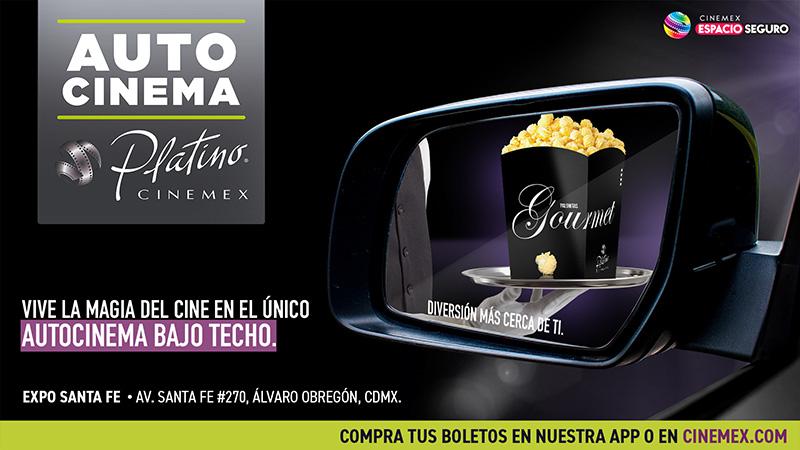 Autocinema Platino Cinemex CDMX techo