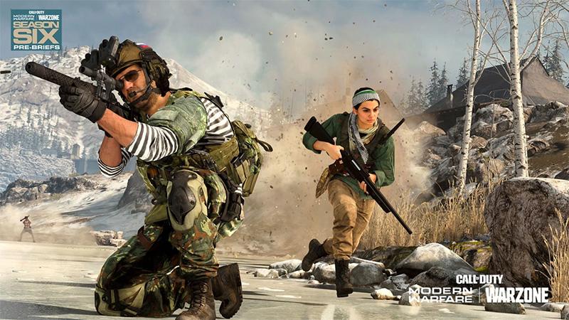 Farah y Nikolai en el Pase de Batalla de la Temporada Seis