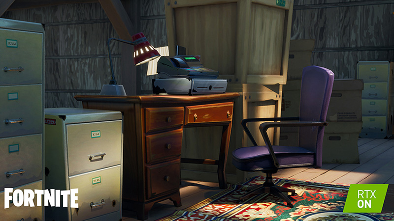 Fortnite Ray Tracing sombras