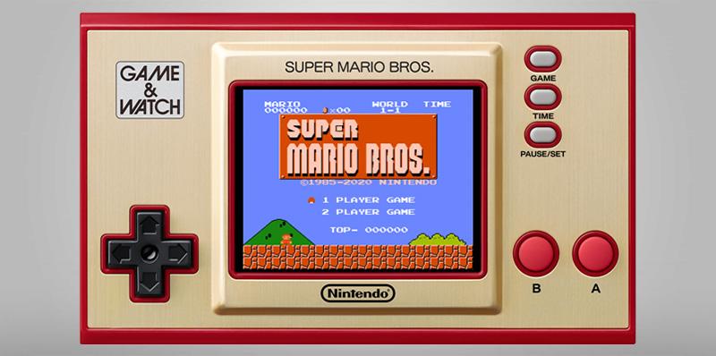 Esta es la nueva consola Game & Watch: Super Mario Bros