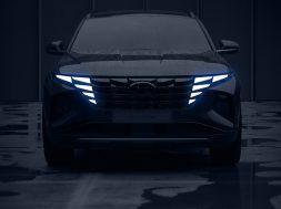 Hyundai Tucson 2021 teaser frontal