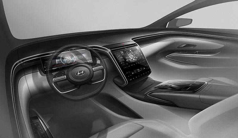 Hyundai Tucson 2021 teaser interior