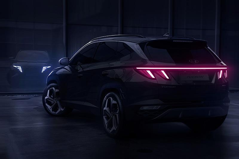 Hyundai Tucson 2021 teaser trasera
