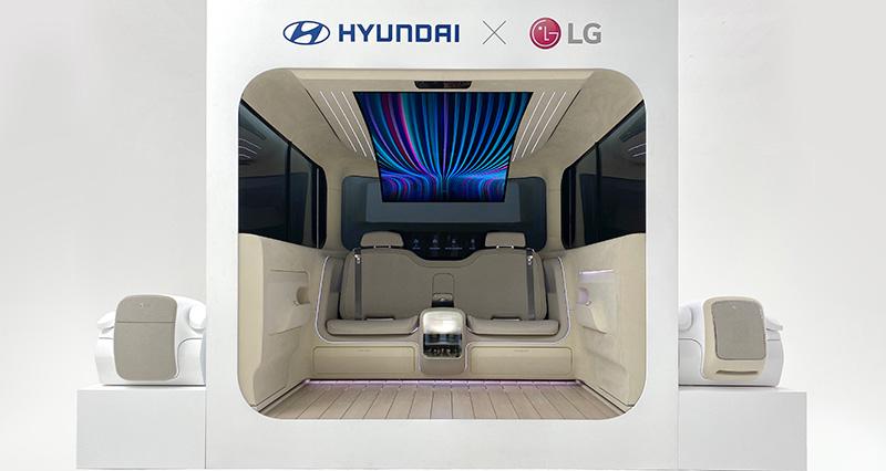 LG Hyundai IONIQ Concept Cabin