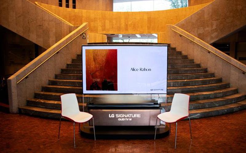 LG SIGNATURE es una pieza de arte del Museo de Arte Moderno