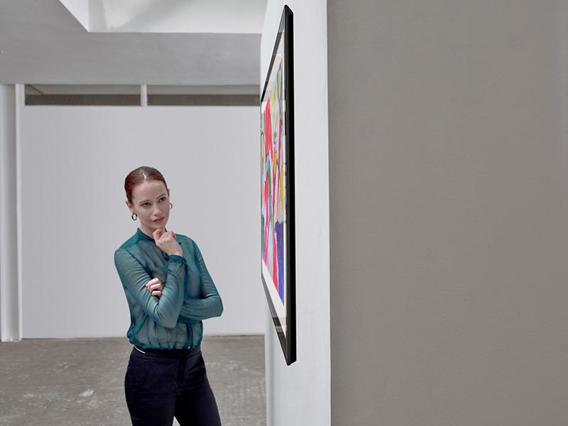 LG SIGNATURE OLED TV sala de arte