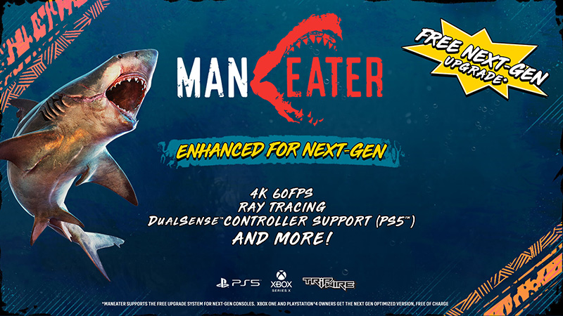 Maneater PS5 Xbox Series X actualizacoin