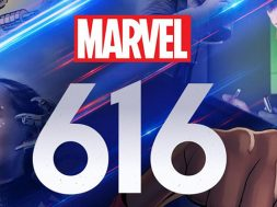 Marvel 616 logo background