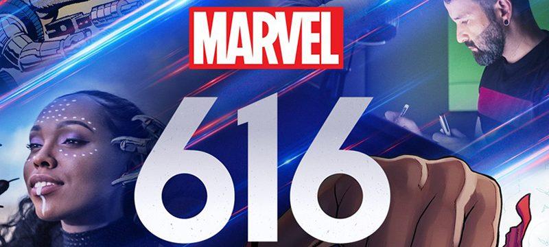 Marvel 616 logo background