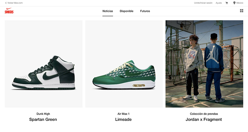 Nike SNKRS Mexico