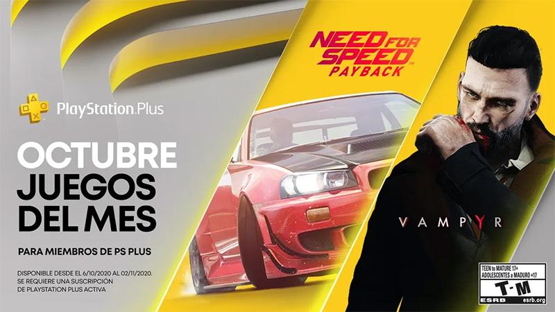 Need for Speed: Payback y Vampyr van para PlayStation Plus