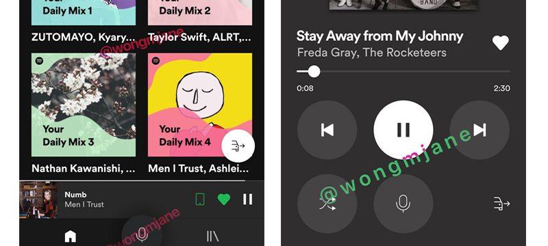 Spotify interfaz auto