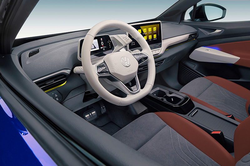 Volkwagen ID4 2021 interior luces