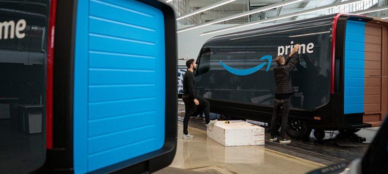 Amazon Rivian camioneta electrica