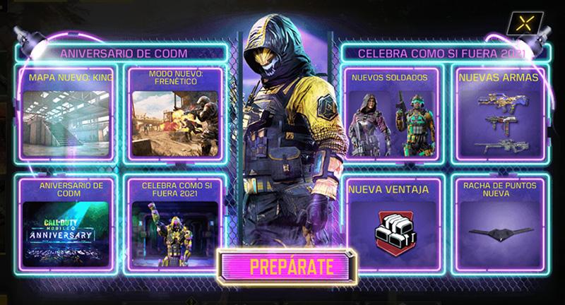 Call of Duty Mobile 1 aniversario contenido