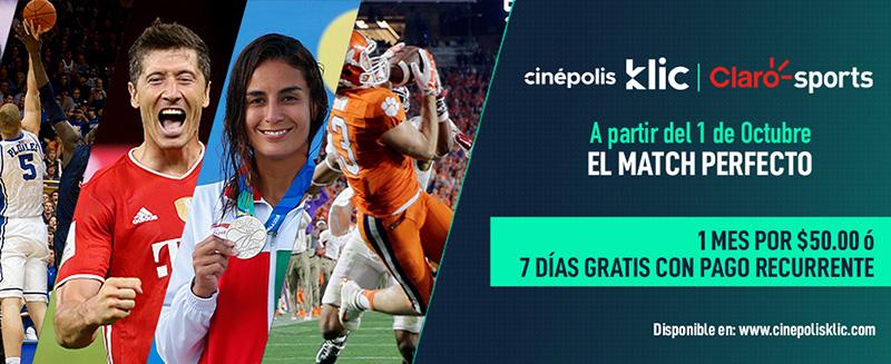 Claro Sports Cinepolis Klic