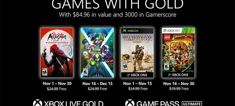 Games with Gold noviembre 2020