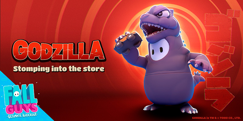 En noviembre, Godzilla llegará a Fall Guys: Ultimate Knockout