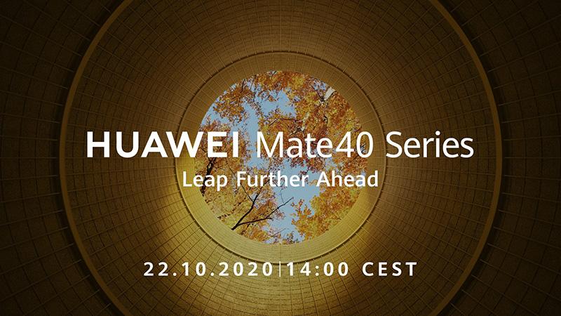 Huawei Mate 40 será anunciado el próximo 22 de octubre
